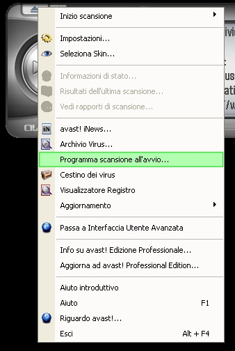 Avast Scansione All'Avvio