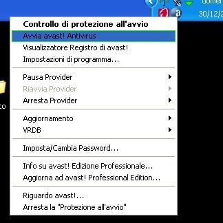 Avast avvio del programma antivirus