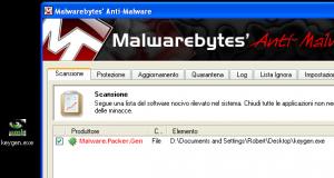 risultato-scansione-malwarebytes
