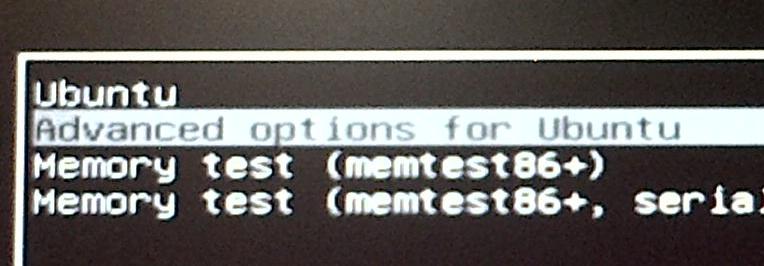 Menu di Grub2 in Ubuntu