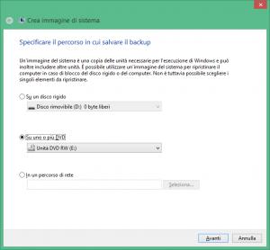 Windows 8.1 creare un disco di ripristino